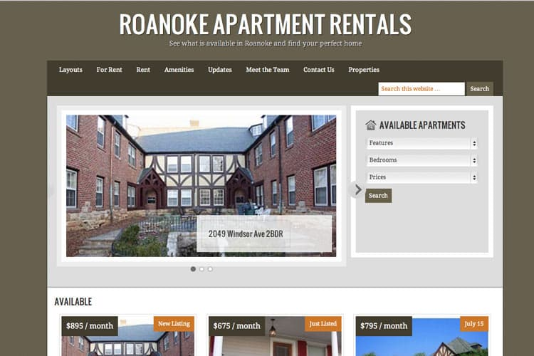 Roanoke Apartment Rentals