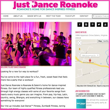 Just Dance Roanoke Website