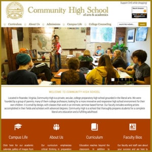 Community High School – website
