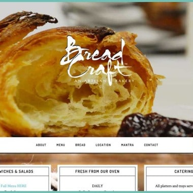 BreadCraft Bakery Website